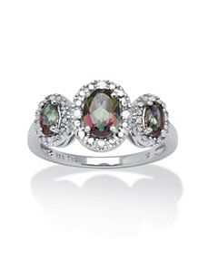 1.66 TCW Mystic Fire Topaz Ring by PalmBeach Jewelry