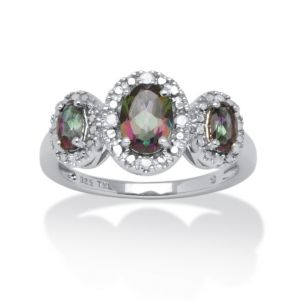 1.66 TCW Mystic Fire Topaz Ring