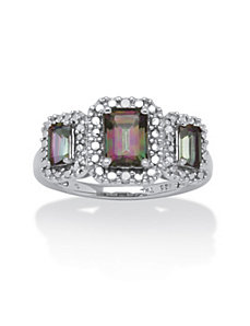 2.05 TCW Mystic Fire Topaz Ring by PalmBeach Jewelry