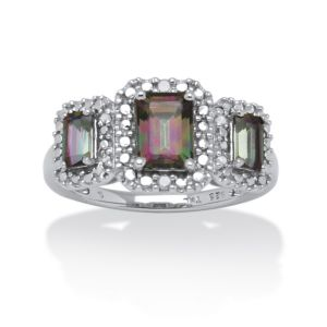 2.05 TCW Mystic Fire Topaz Ring