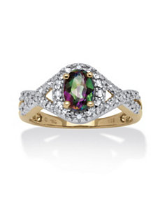 1.11 TCW Mystic Fire Topaz Ring by PalmBeach Jewelry