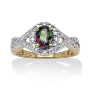 1.11 TCW Mystic Fire Topaz Ring