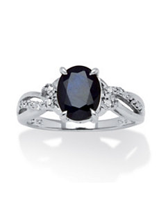 2.20 TCW Midnight Sapphire Ring by PalmBeach Jewelry
