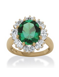 2.33 TCW Lab Created Emerald Ring by PalmBeach Jewelry