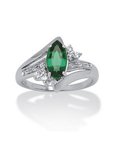 1.52 Lab Created Emerald Ring by PalmBeach Jewelry