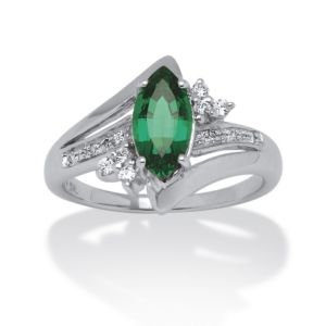 1.52 Lab Created Emerald Ring