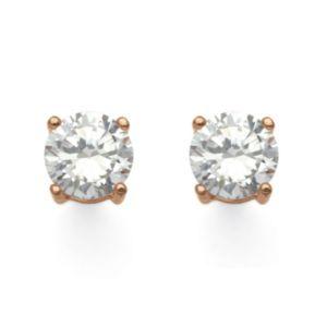 2.50 TCW Cubic Zirconia Earrings Rose Gold