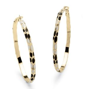 Black & White Enamel Hoop Earrings