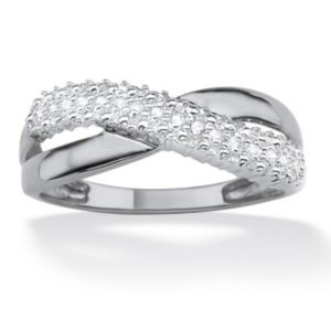 Diamond Accent Crossover Ring