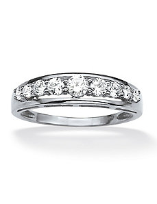 .92 TCW Cubic Zirconia Ring 10k White Gold by PalmBeach Jewelry
