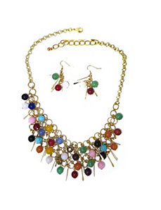 Multi-Colored Jade Jewelry Set by PalmBeach Jewelry