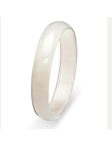 White Jade Bangle Bracelet 13mm by PalmBeach Jewelry