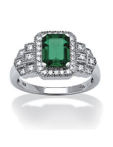 2.01 TCW Lab Created Emerald Ring by PalmBeach Jewelry