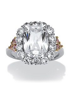 4.75 TCW Oval-Cut Cubic Zirconia Ring by PalmBeach Jewelry