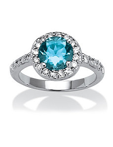 .54 TCW Cubic Zirconia Crystal Birthstone Ring by PalmBeach Jewelry