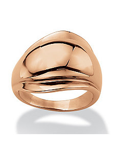 Freeform Ring in Rose Gold-Plated by PalmBeach Jewelry