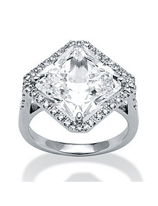 4.08 TCW Cubic Zirconia Ring in POS by PalmBeach Jewelry