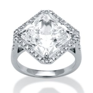 4.08 TCW Cubic Zirconia Ring in POS