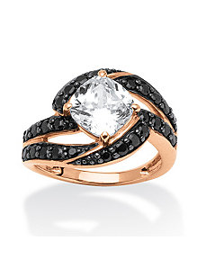 2.45 TCW B&W Cubic Zirconia Ring by PalmBeach Jewelry