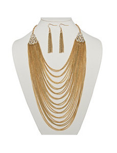 Multi-Chain Jewelry Set in Goldtone by PalmBeach Jewelry
