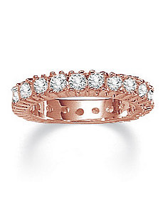 2 TCW Cubic Zirconia Eternity Band Rose GOS by PalmBeach Jewelry