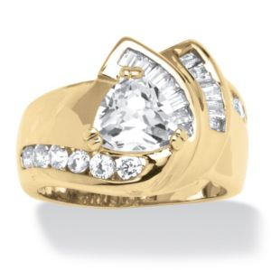 3.34 TCW Cubic Zirconia Ring 14K GP