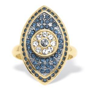 Pave Blue Crystal Eye Ring