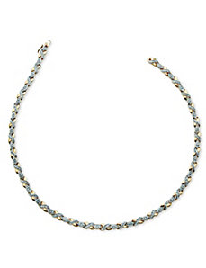 1/5 TCW Diamond X&O Necklace by PalmBeach Jewelry