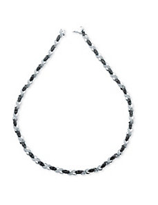 .22 TCW Black Diamond X&O Necklace by PalmBeach Jewelry