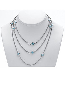 Birthstone Station Necklace by PalmBeach Jewelry