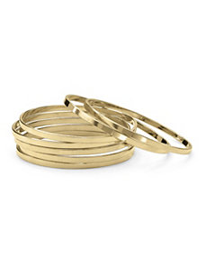 7 Bangle Bracelets Goldtone by PalmBeach Jewelry