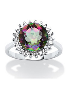 3.61 TCW Round Fire Topaz Ring by PalmBeach Jewelry