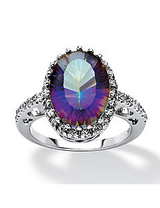 5.63 Mystic Purple Quartz Cubic Zirconia Ring by PalmBeach Jewelry