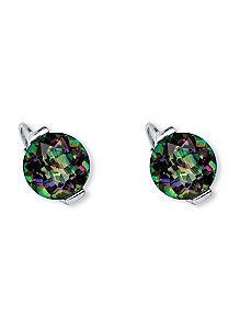 6.60 TCW Fire Quartz Earrings by PalmBeach Jewelry