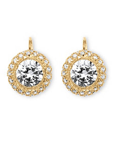 5.02 TCW Cubic Zirconia Earrings by PalmBeach Jewelry