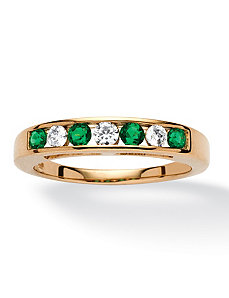 .46 TCW Emerald Cubic Zirconia Ring by PalmBeach Jewelry