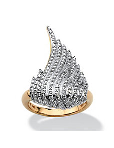 Diamond Accented Wing Ring by PalmBeach Jewelry