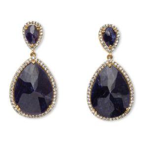 21.08 TCW Pear-Cut Midnight Sapphire