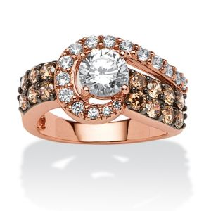 2.53 TCW Cubic Zirconia and Chocolate Cubic Zircon