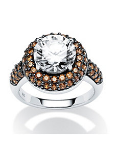 4.46 TCW Cubic Zirconia/Chocolate Cubic Zirconia R by PalmBeach Jewelry