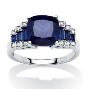 3.19 TCW Lab Created Sapphire Ring
