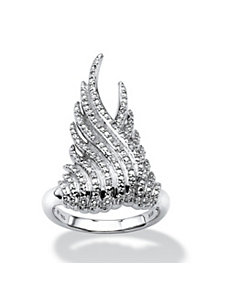 Diamond Accent Wing Ring by PalmBeach Jewelry
