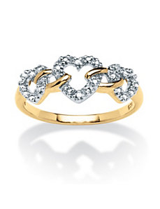 Diamond Accent Triple Heart Ring by PalmBeach Jewelry