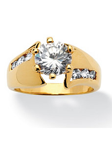 2.63 TCW Cubic Zirconia Ring by PalmBeach Jewelry