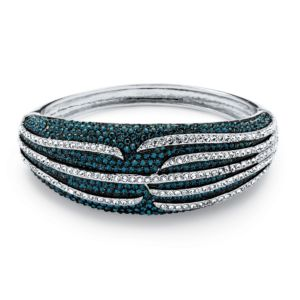 Teal Crystal Bangle Bracelet