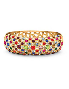 Multi-Colored Crystal Bangle Bracelet by PalmBeach Jewelry