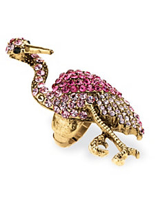 Crystal Flamingo Stretch Ring by PalmBeach Jewelry
