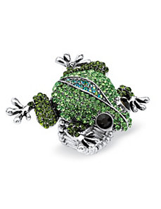 Crystal Frog Stretch Ring by PalmBeach Jewelry