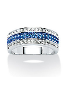 Swarovski Crystal Row Ring by PalmBeach Jewelry