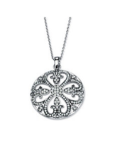 Ornate Crystal Pendant Necklace by PalmBeach Jewelry